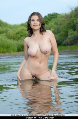 Sexy naked hot girl with big boobs photo