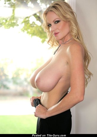 Image. Naked wonderful female with huge natural breast pic