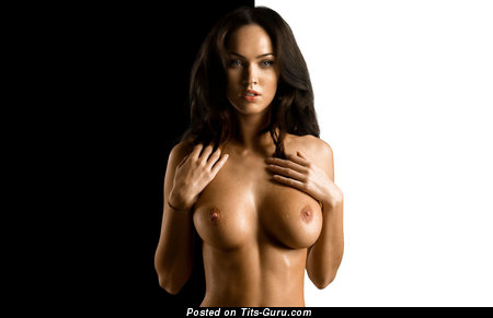 Image. Megan Fox - brunette with medium tittes image