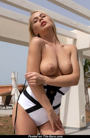 Blonde - Pretty Blonde Teacher with Pretty Bare Natural C Size Breasts is Undressing (Hd 18+ Pix)