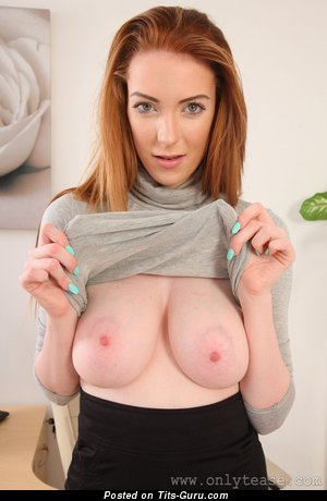 Alice Brookes - Grand British Red Hair Babe with Appealing Defenseless Real Regular Boobys (Hd Porn Picture)