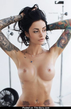 Anya Sakharova - Cute Topless Babe & Actress with Big Nipples, Piercing & Tattoo (Xxx Photoshoot)