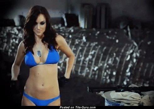 Image. Rosie Jones - naked hot lady with medium natural boob gif