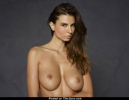Image. Marisa - brunette with medium natural breast pic