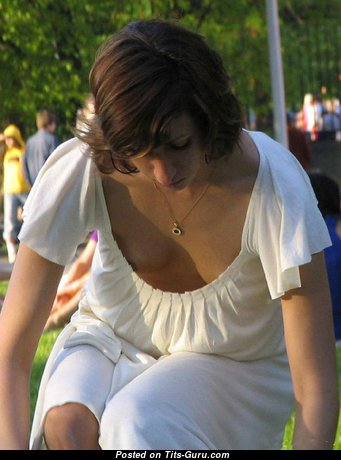 Fascinating Undressed Brunette (on Public Sexual Wallpaper)