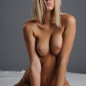 Lovely Topless Blonde Babe with Lovely Bare Real Med Breasts (Hd Sexual Pic)