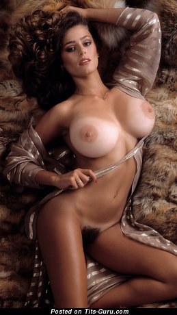 Image. Karen Price - sexy nude brunette with big natural tits vintage