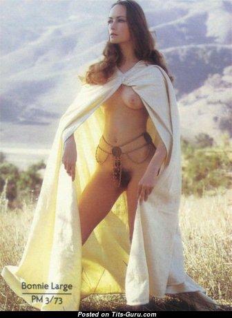 Bonnie Large - Gorgeous American Playboy Blonde with Gorgeous Naked Real Boob (Vintage Xxx Photoshoot)