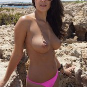 Wonderful woman with big natural tittys image