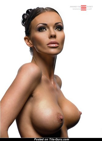 Appealing Babe with Appealing Exposed Real Regular Melons (Sex Photoshoot)