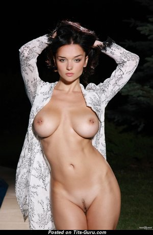 Evgeniya Diordychuk - Amazing Glamour Unclothed Brunette with Tan Lines (Hd Porn Photoshoot)