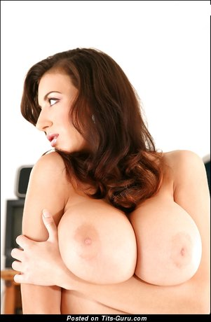 Image. Jana Defi - nude brunette with huge natural tits image