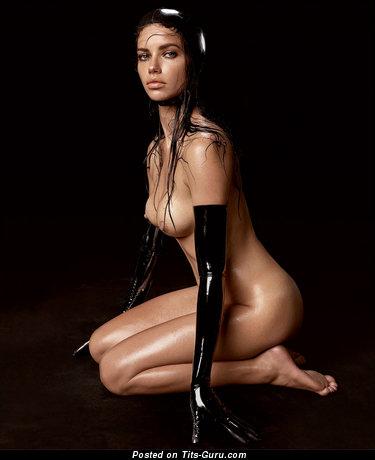 Adriana Lima - Delightful Brazilian Red Hair with Delightful Open Regular Tits (Hd Xxx Wallpaper)