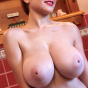 Nice female with big natural boobies image