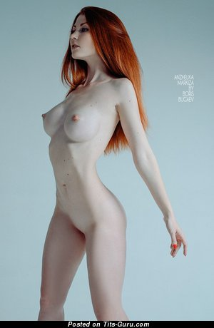 Image. Sexy topless amateur red hair pic