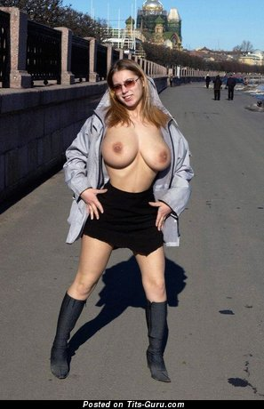 Image. Nice girl with huge natural tots image
