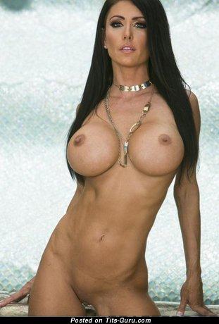 Image. Nude awesome female with big fake tits image