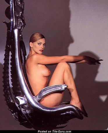 Natasha Henstridge - Grand Canadian Blonde Actress with Grand Naked Real Hooters (Hd Porn Wallpaper)