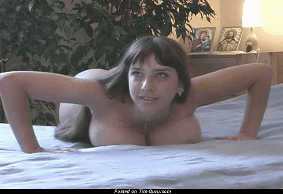 Image. Yulia Nova - sexy naked brunette with big natural tits gif