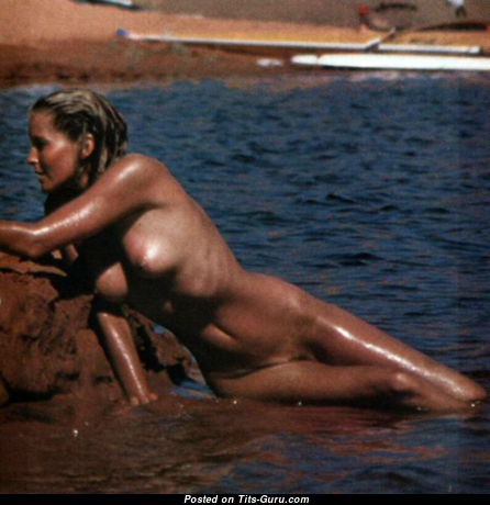Bo Derek - Alluring Topless American Blonde Actress with Alluring Bare Natural C Size Titties (Vintage Sex Pix)