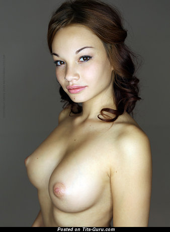 Graceful Chick with Lovely Open Real Med Boobies (Sex Photo)