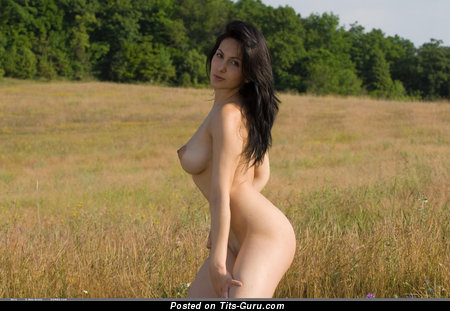 Image. Mira - nude brunette with big natural tits photo
