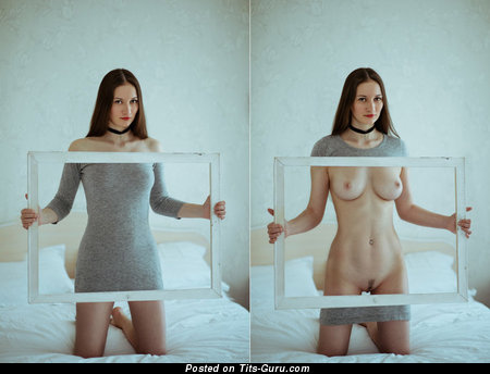 Image. Naked wonderful lady with natural boob picture