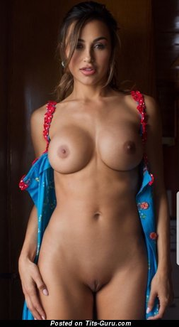 Graceful Brunette Babe with Graceful Defenseless Silicone Regular Boobie is Undressing (Hd 18+ Photoshoot)