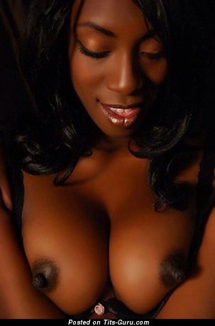Delightful Topless Ebony Skirt with Delightful Nude Real Soft Tots & Inverted Nipples (18+ Photoshoot)