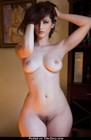 Image. Nude wonderful female with medium natural tittes photo