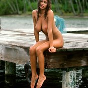 Karen Velez - wet brunette with big natural tittys photo