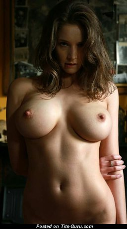 Image. Emily Florence - sexy nude brunette with medium breast image