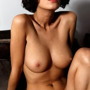 Beautiful woman with natural breast picture
