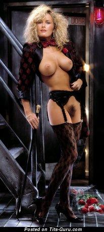 Christine Richters - Wonderful American Playboy Blonde Babe with Wonderful Bald C Size Tit (Vintage Hd Xxx Pic)
