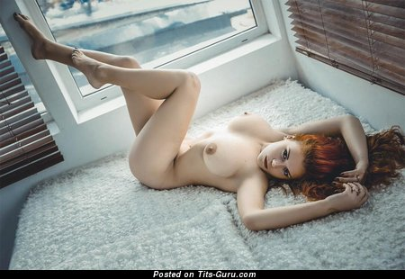 Image. Slavka Solnechnaya - red hair with big natural tittes photo