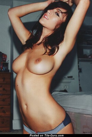 Image. Naked amazing female with medium natural boobies photo