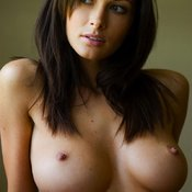 Sexy brunette with big natural boobs pic