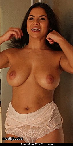 Image. Lacey Banghard - nude brunette with big natural tits gif