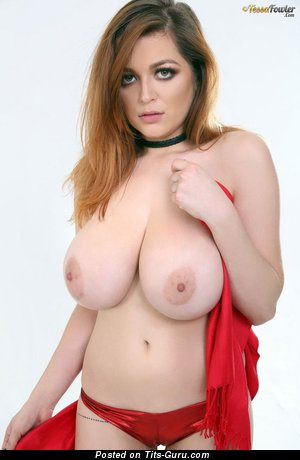 Tessa Fowler - Dazzling Glamour & Topless American Red Hair Pornstar, Actress & Babe with Dazzling Nude Real Giant Tit & Pointy Nipples in Panties (Hd Porn Pix)