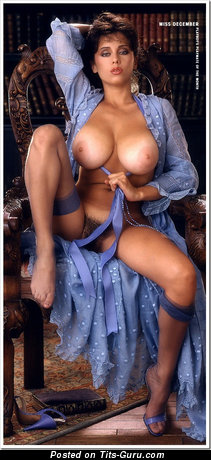Image. Patricia Farinelli - sexy topless brunette with big natural tittes and big nipples vintage