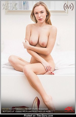 Image. Sexy nude blonde with medium natural tits and big nipples photo