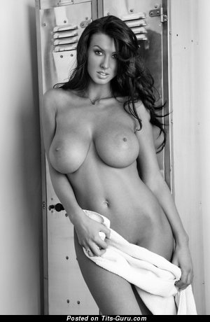 Image. Sexy naked wonderful lady with big natural boobs photo