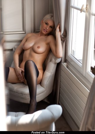 Magnificent Babe with Magnificent Bald Natural Firm Tots (Sexual Photo)