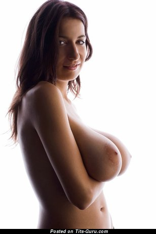 Image. Amazing woman with huge natural breast picture