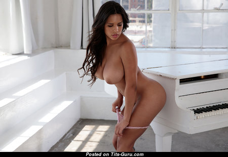 Autumns Falls - Good-Looking Topless Brunette Babe with Good-Looking Bare Sizable Chest (Hd 18+ Photoshoot)