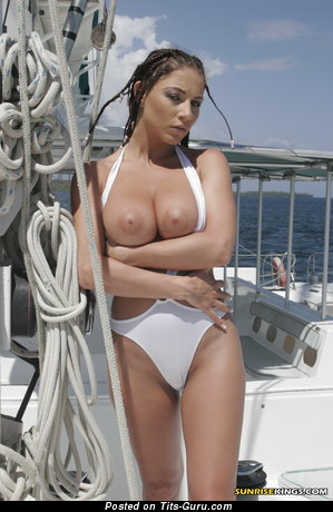 Image. Roberta Missoni - sexy topless brunette with medium natural tittys pic