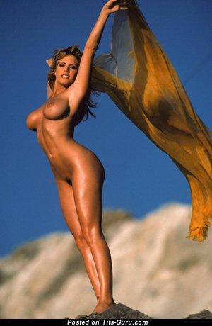 Sandra Taylor - nude brunette with medium fake tittys photo