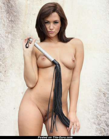 Cute Brunette Babe with Cute Naked Real Slight Jugs (Porn Foto)