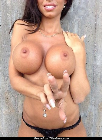 Alluring Dame with Alluring Open Fake Titties (Porn Foto)