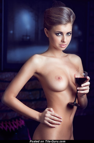 Image. Naked awesome lady with medium natural tittys pic